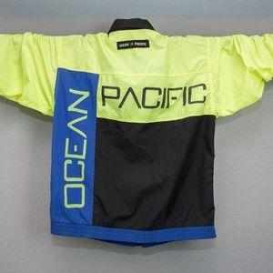Vintage OP Neon Yellow Surfer Jacket